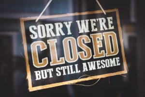 Sorry we're closed but still awesome